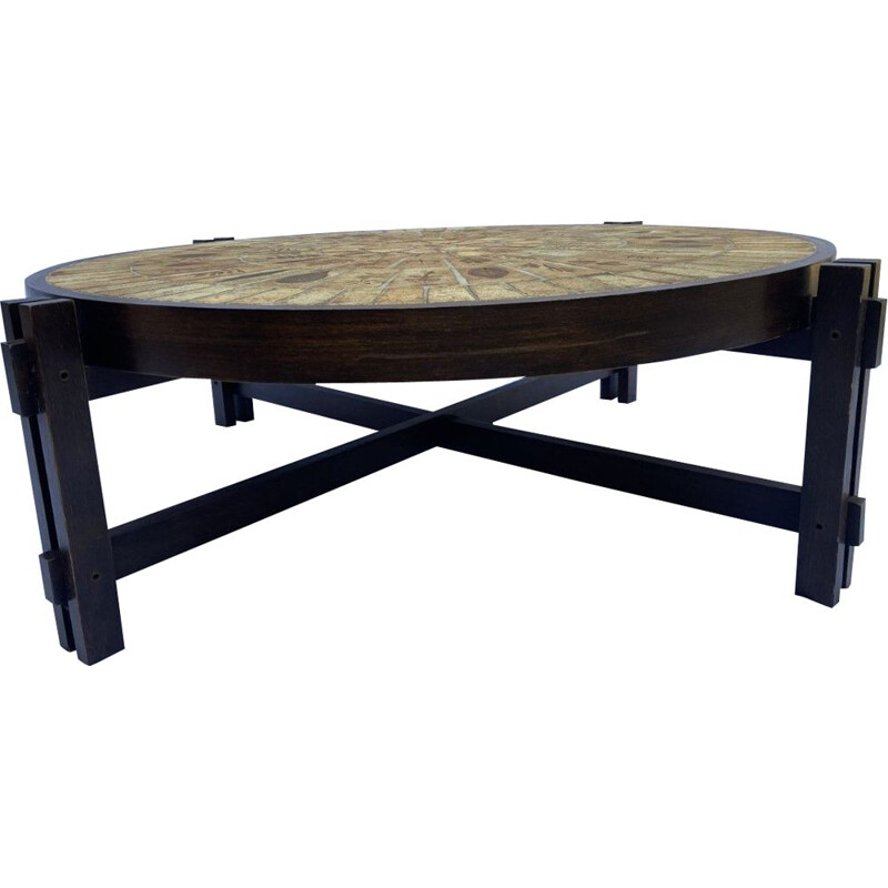 Vintage coffee table by Roger Capron 1970s