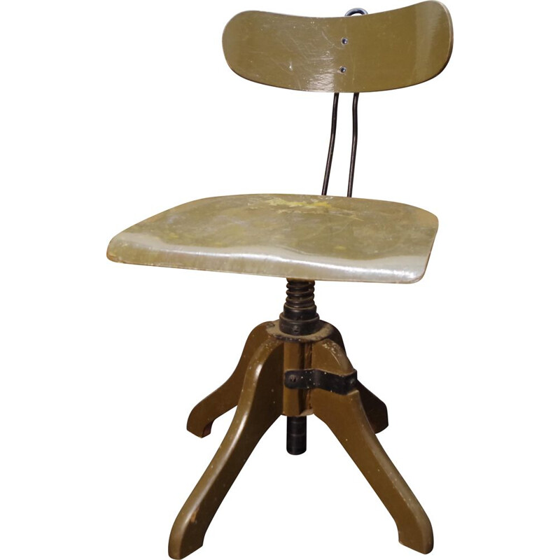 Vintage Architect's industrial swivel chair 1940s