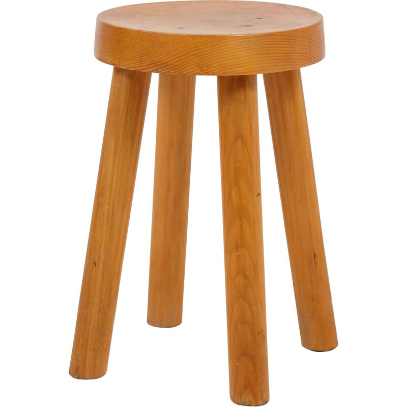 Vintage stool by Charlotte Perriand for the Meribel ski resort 1960s