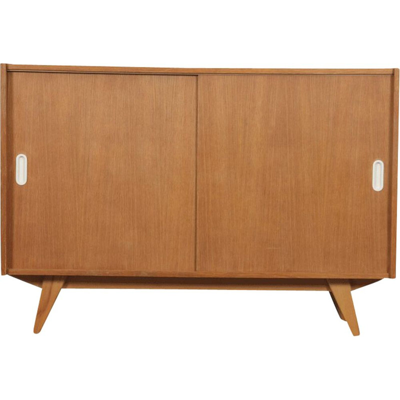 Vintage wooden chest of drawers model U-452 designed by Jiri Jiroutek 1960s