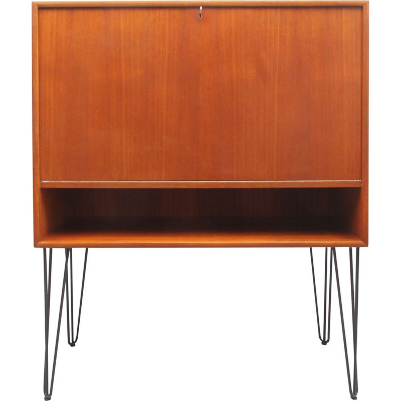 Vintage secretary in teak hairpin-legs 1960s