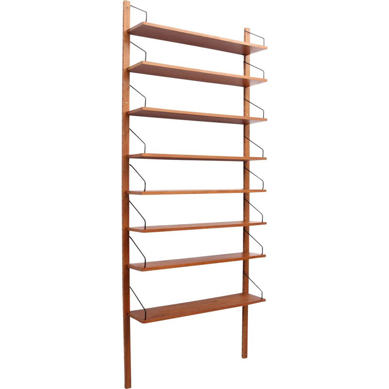 Vintage wall unit in teak by Poul Cadovius, Denmark 1960s