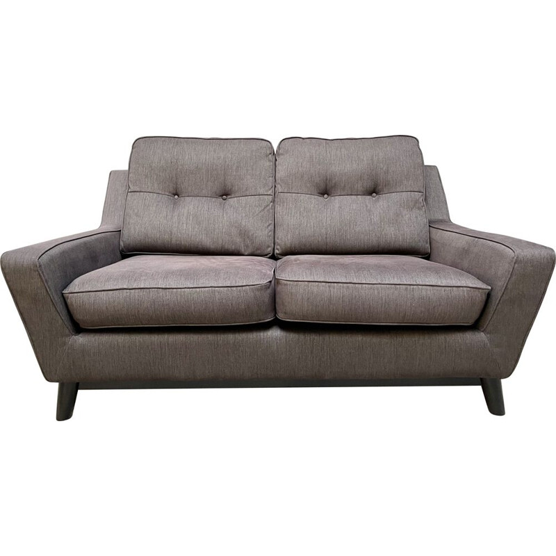 Vintage 2 Seater Grey Sofa The Fifty Three G Plan, UK 2013s