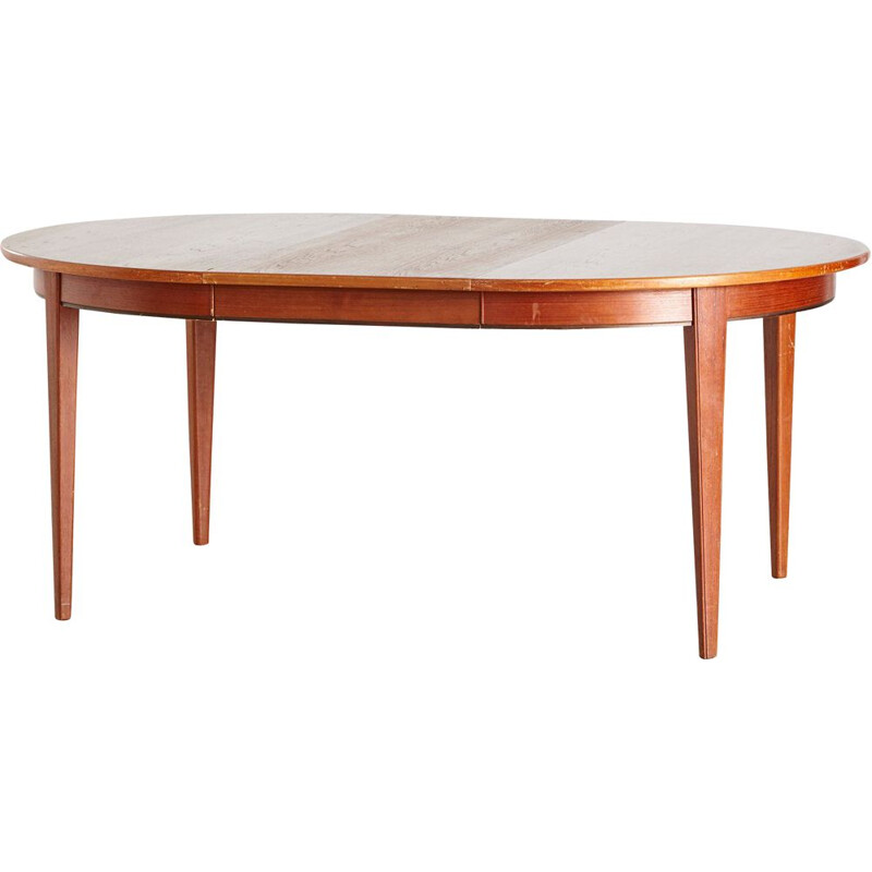 Vintage Teak Model 55 Dining Table from Omann Jun, Danish 1960s