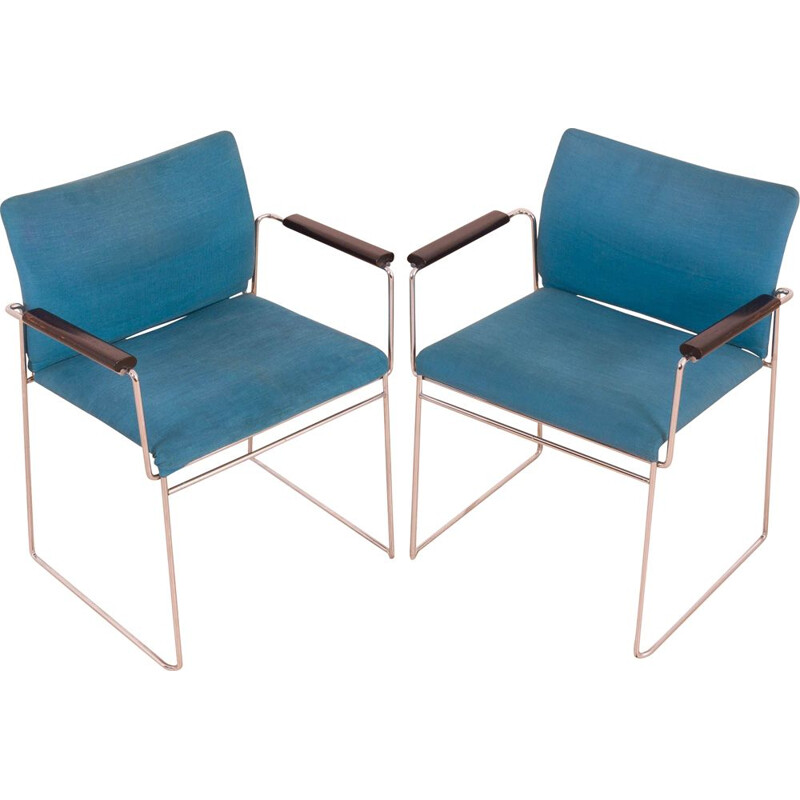 Pair of vintage Jano chairs by Kazuide Takahama for Gavina, Italy 1970s