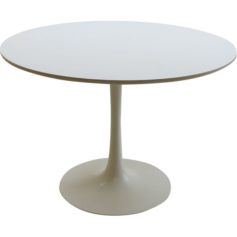 Vintage White Tulip Dining Table By Maurice Burke For Arkana, UK 1960s
