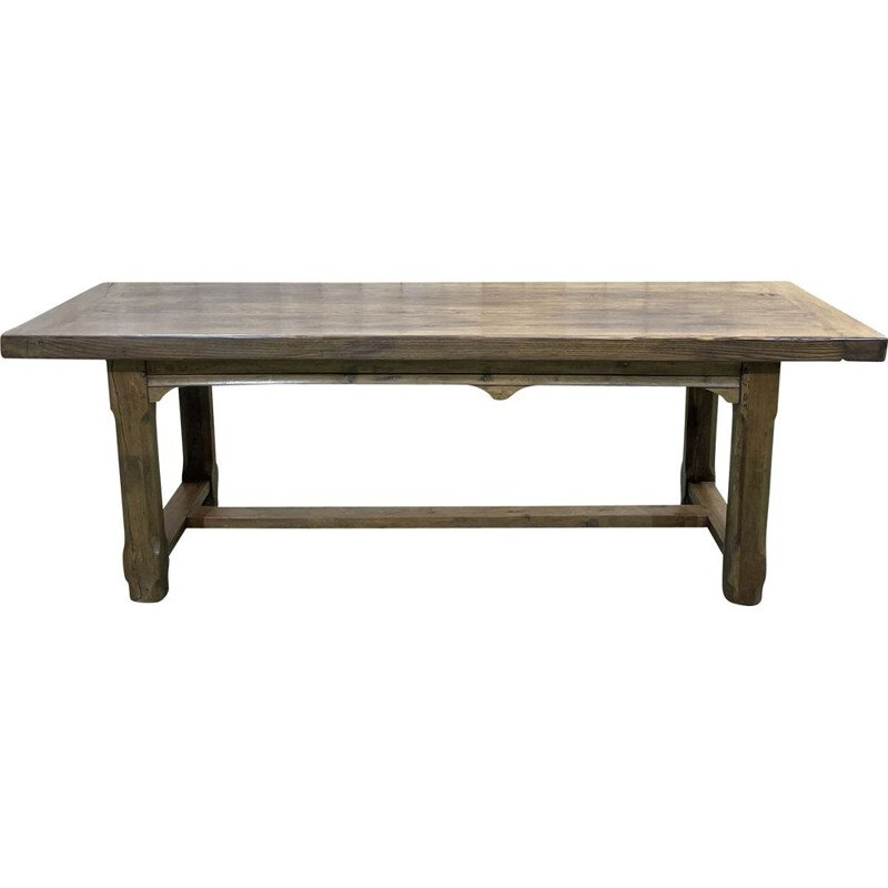 Vintage monastery table Elm and oak 1950