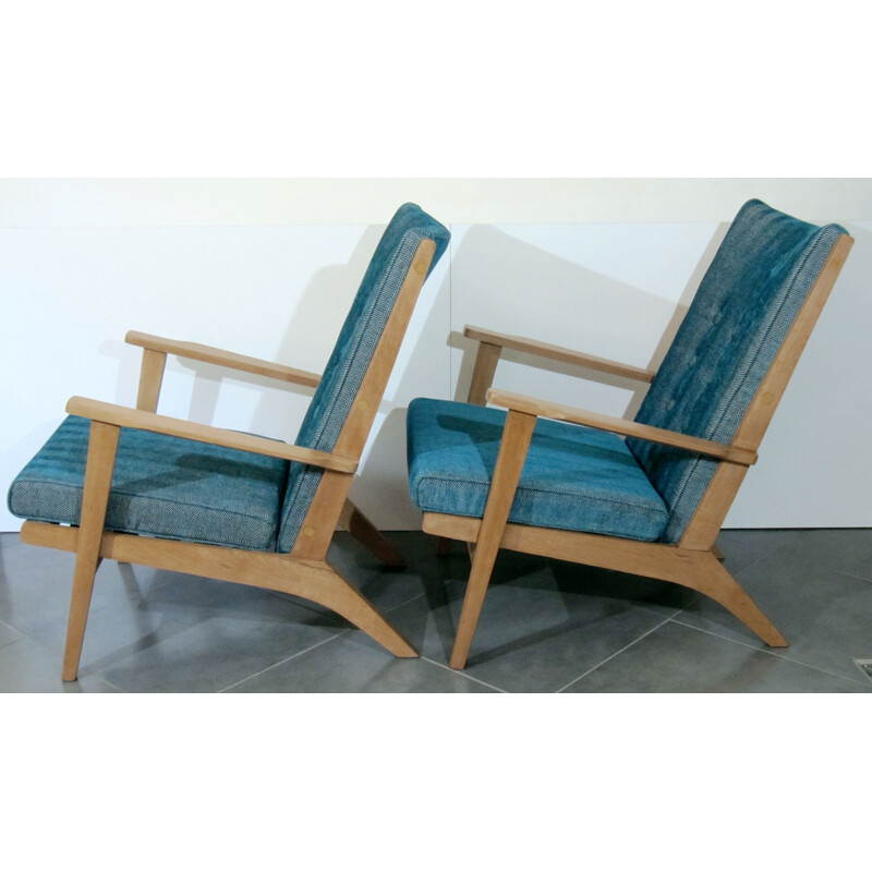 Pair of vintage armchairs by Parker Knool, British 1950s