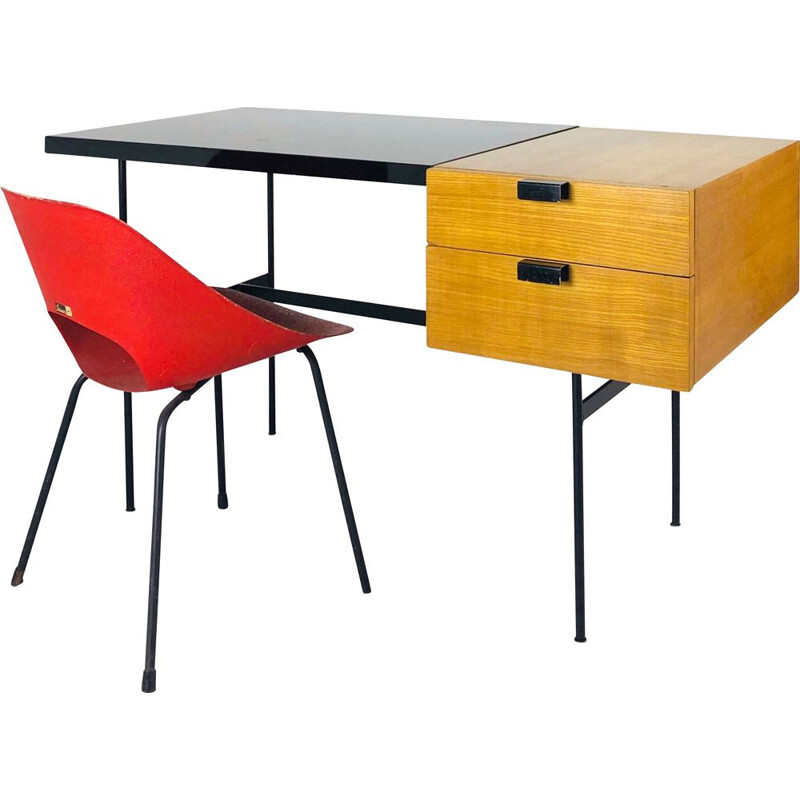 Vintage desk CM141 by Pierre Paulin for Thonet 1954s