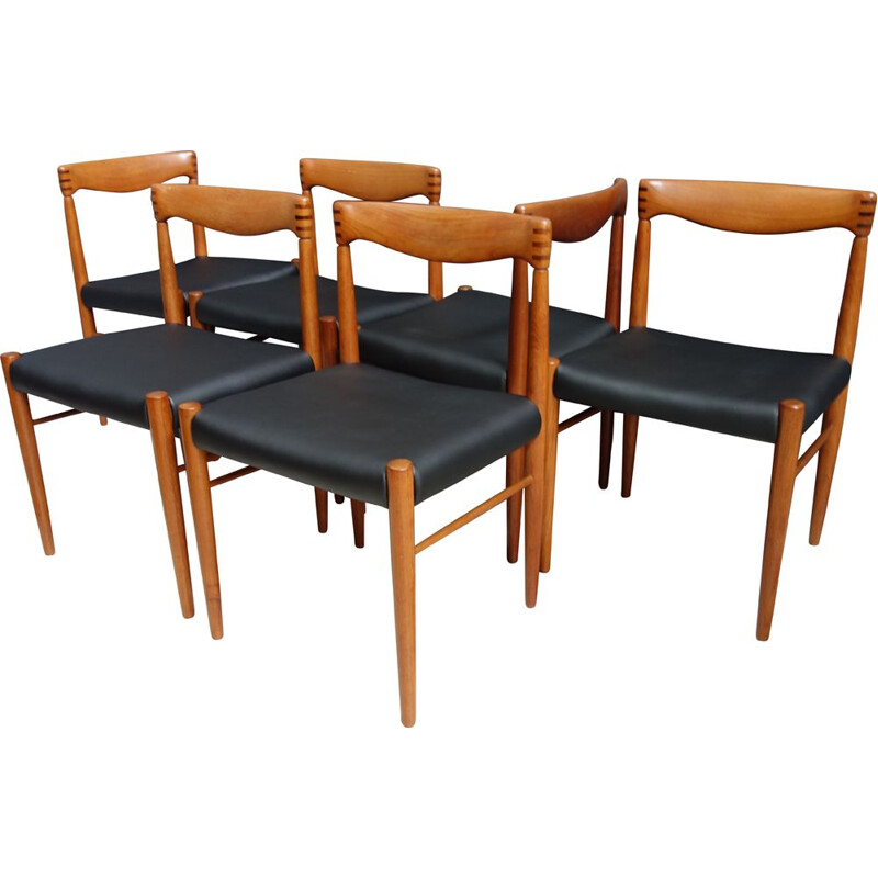 Set of 6 vintage dining chairs by WH Klein for Bramin, Denmark 1960s