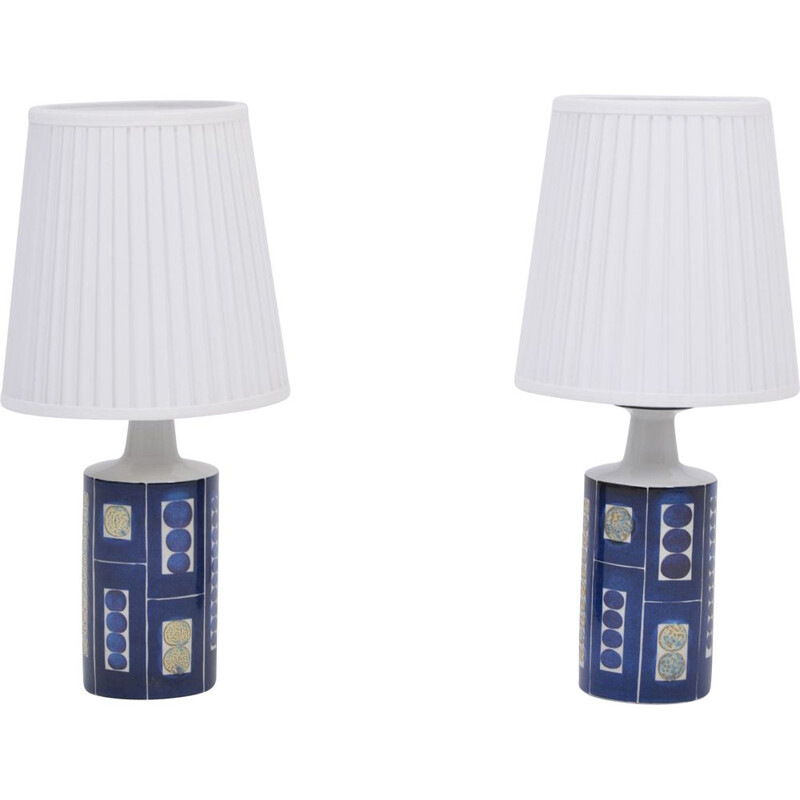 Pair of vintage Royal 9 Tenera Table Lamps by Inge-Lise Kofoed for Fog & Morup 1967s