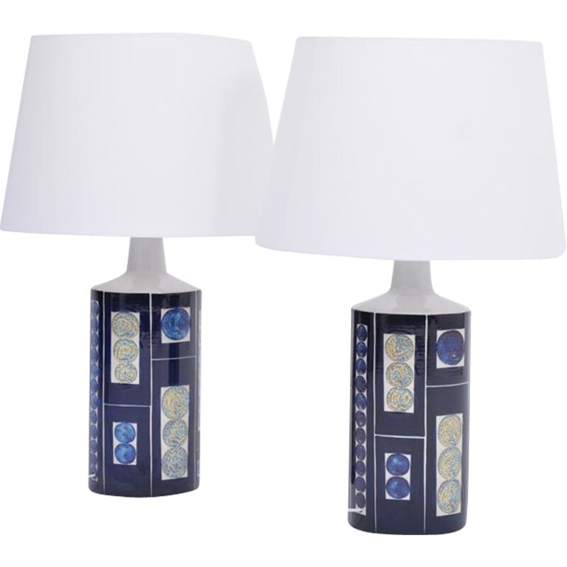 Pair of vintage Royal 7 Tenera table lamps by Ingelise Kofoed for Fog and Morup 1967s