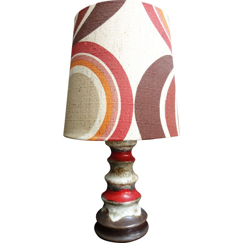 Vintage full color table lamp, German 1970s