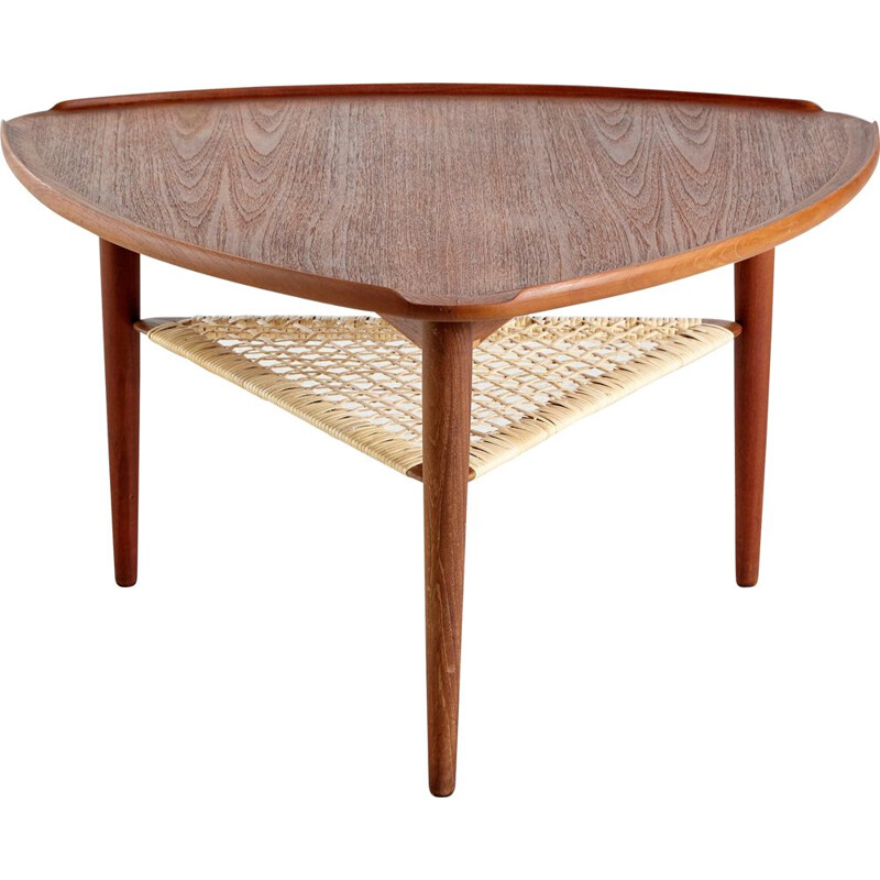 Vintage Coffee Table by Johannes Andersen for CFC Silkeborg, Danish 1960s