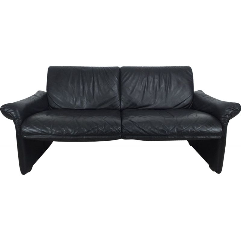Vintage leather sofa Swann edition, Belgian 1980s