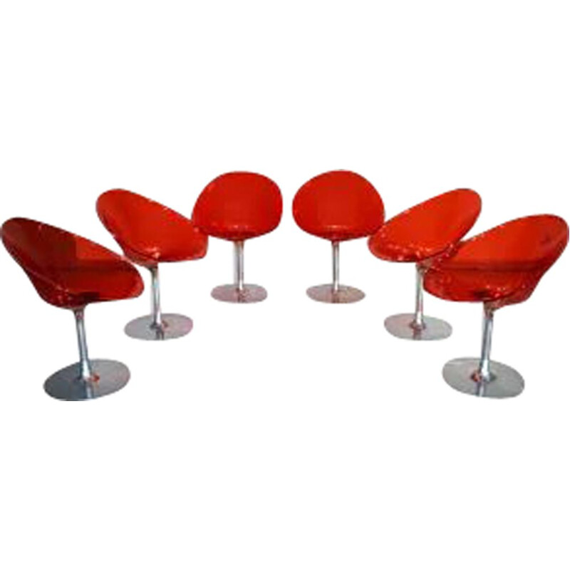 Set of 6 vintage Eros armchairs by Phillip Starck for Kartel 1999s