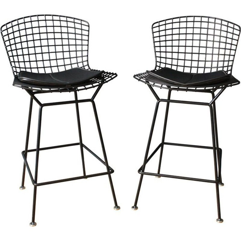 Pair of vintage Harry Bertoia Bar Stool American