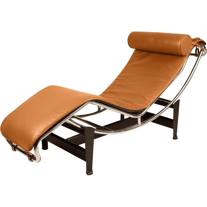 Vintage lounge chair LC4 by Le Corbusier, Italy 1964s