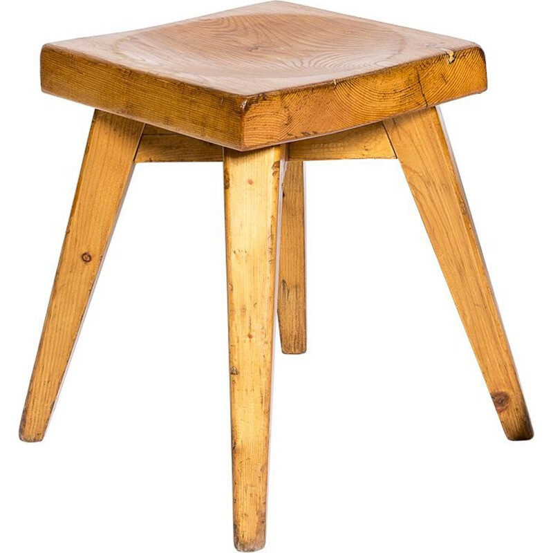 Vintage Christian Durupt stool for Charlotte Perriand