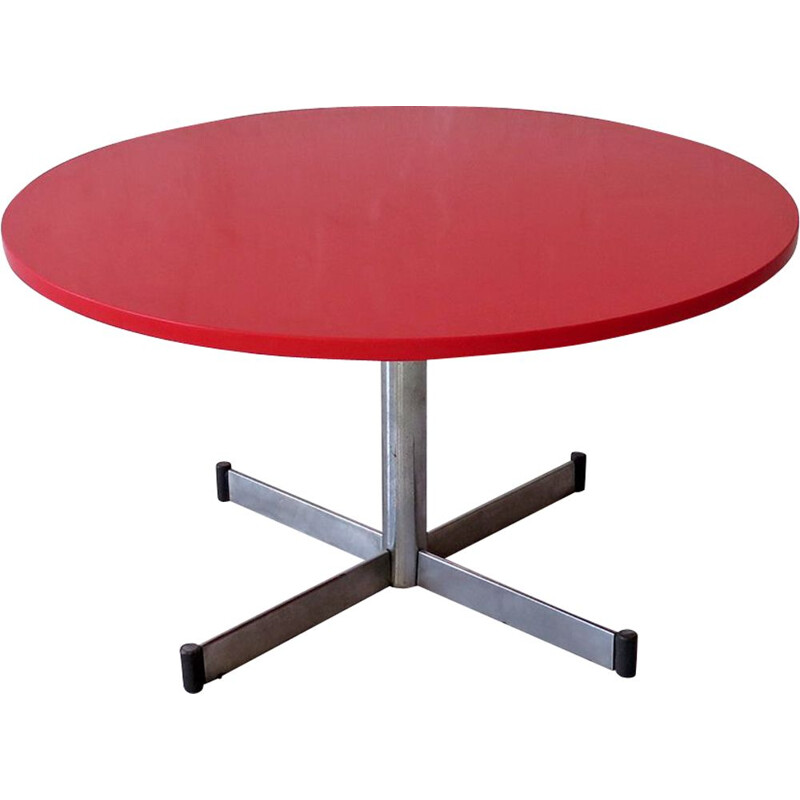 Vintage red stone top coffee table 1960s