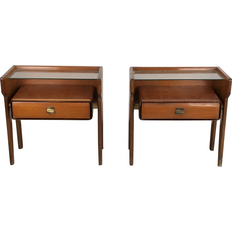 Pair of vintage Vittorio Dassi bedside tables, Italian 1950s