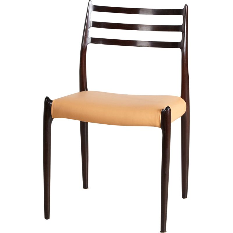 Vintage Model 78 Mahogany Chair by Niels Otto Moller for J.L. Mollers, Danish 1960s