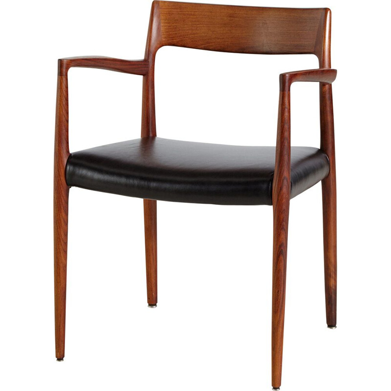 Vintage Model 57 Rosewood Armchair by Niels Otto Møller for J.L. Mollers 1960s
