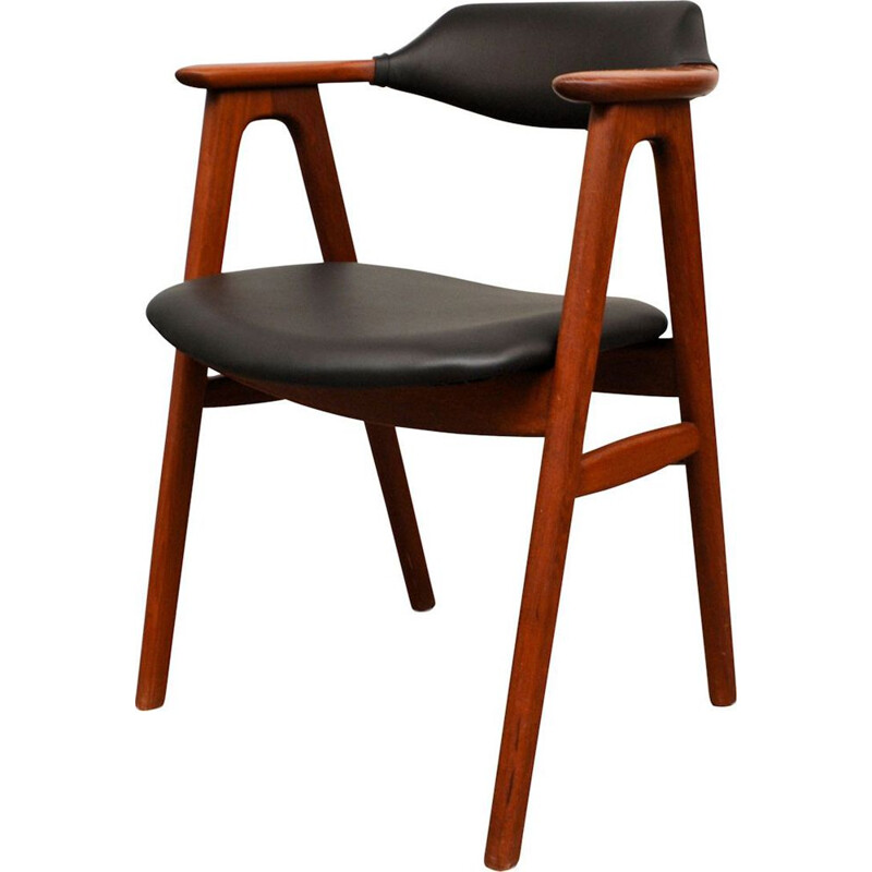 Vintage teak dining chairs by Erik Kirkegaard for Hong Stolefabrik, Danish