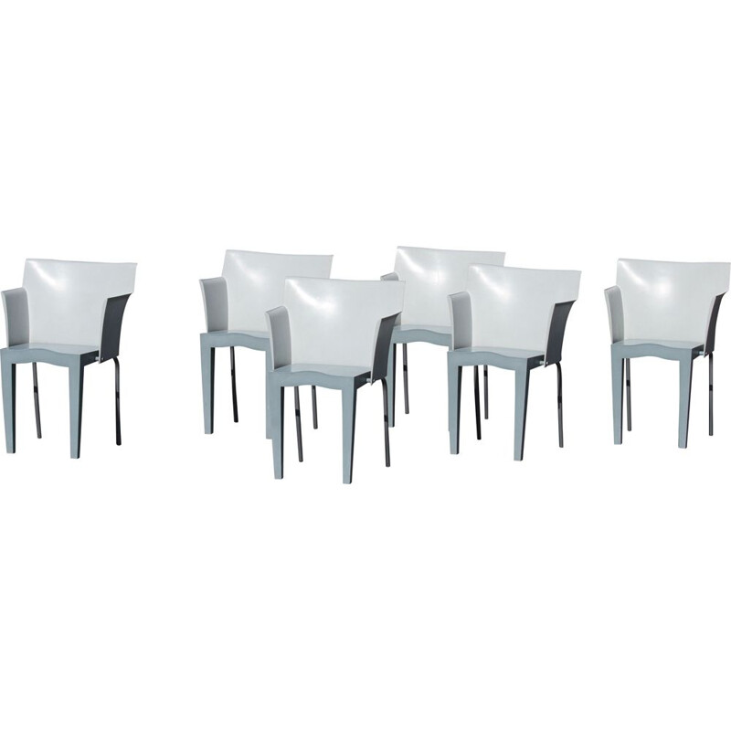 Set of 6 vintage armchairs model Superglob by Philippe Starck 1995s