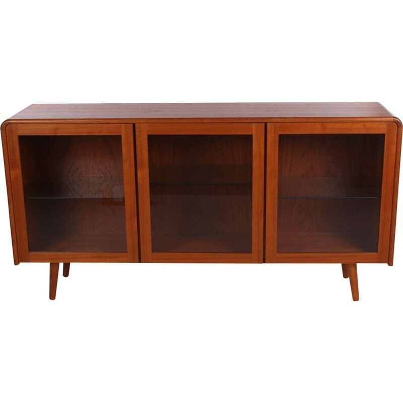 Vintage Sideboard display cabinet with lighting, Denmark 1950s