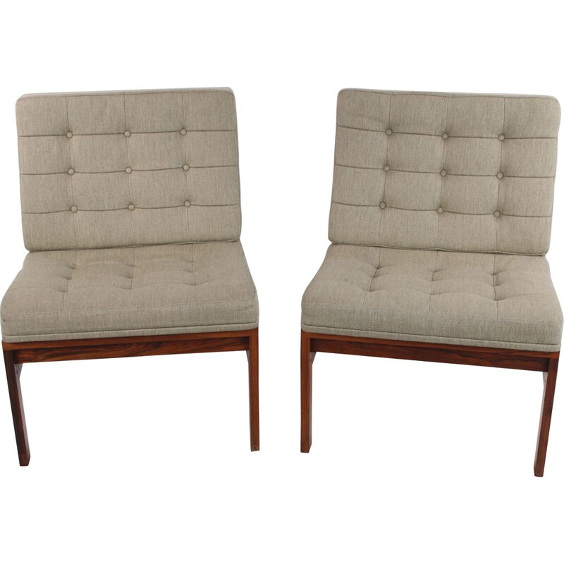Pair of vintage Rosewood Armchairs by Ole Gjerlov-Knudsen, Danish 1960s