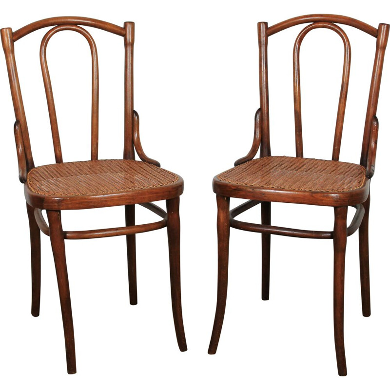 Pair of vintage bistro chairs Thonet, Austria