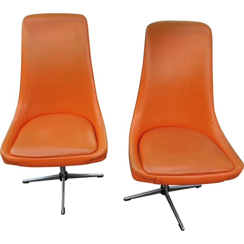 Pair of vintage armchairs by Pierre Guariche 1965s
