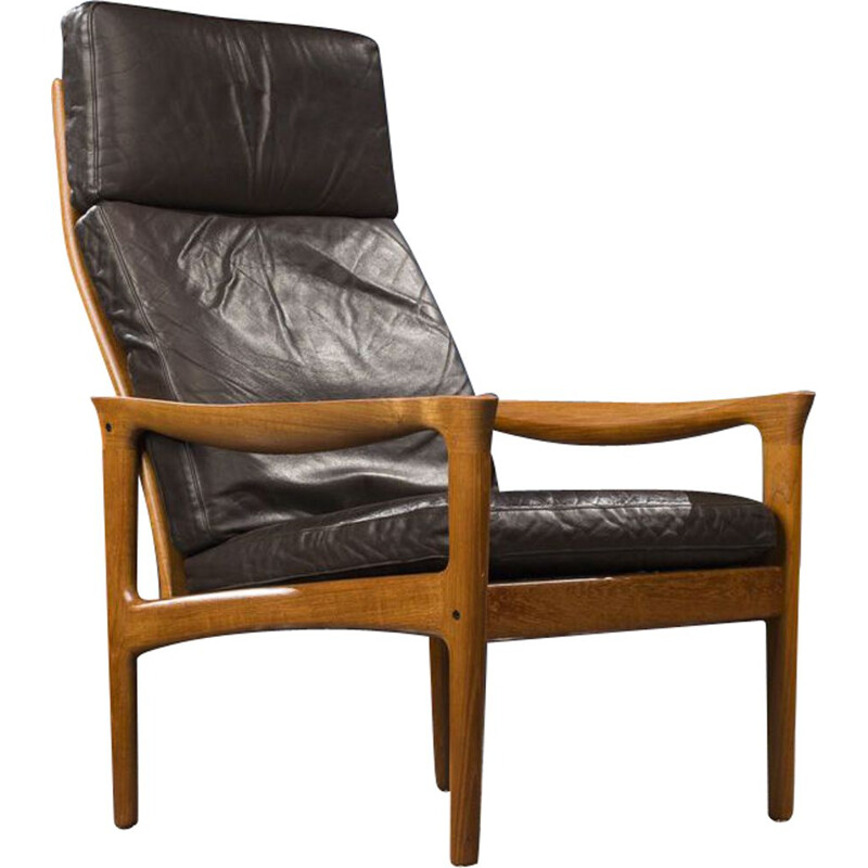 Vintage Teak Lounge Chair to Illum Wikkelso from Glostrup, Danish 1960s