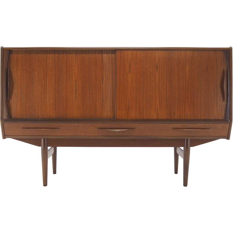 Vintage Teak Highboard, Danish 1960s
