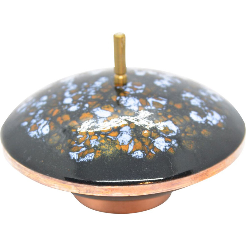 Vintage Enameled copper chocolate box, Germany 1960s