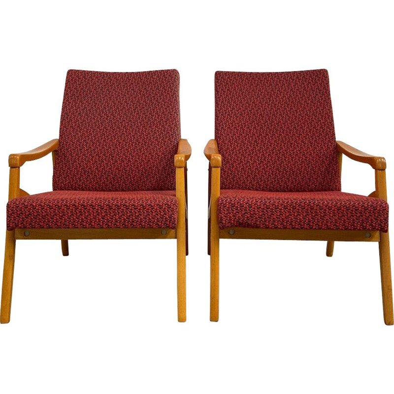 Set of vintage armchairs by J.Jiroutek, Czech republic