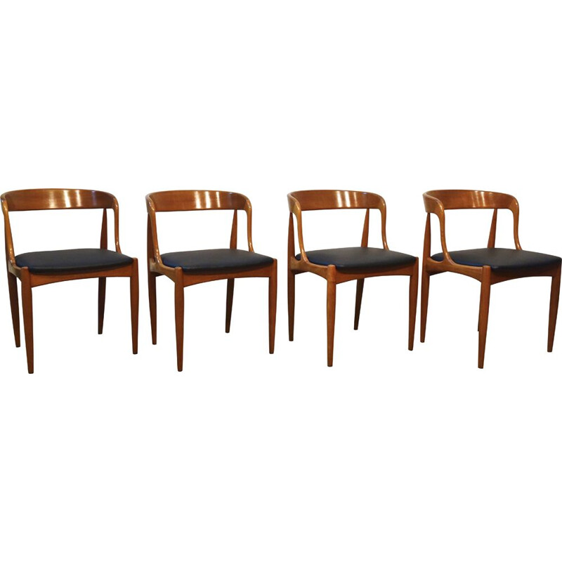 Set of 4 vintage chairs by Johannes Andersen for Uldum Mobelfabrik, Scandinavian 1960s