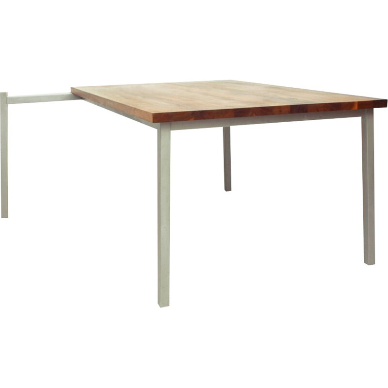 Vintage Walnut Dining Table by Bisscheroux for Laurens Westhoff & Jadé Interieur Staalwerk 2003s
