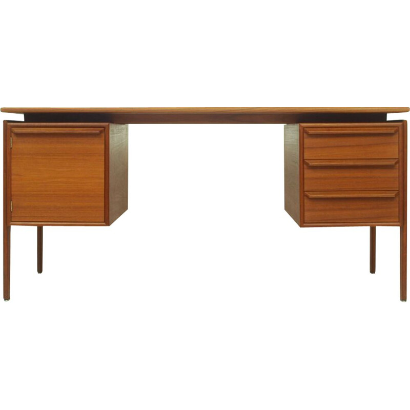 Vintage Teak Desk by G.V. Mobler, Danish 1960s