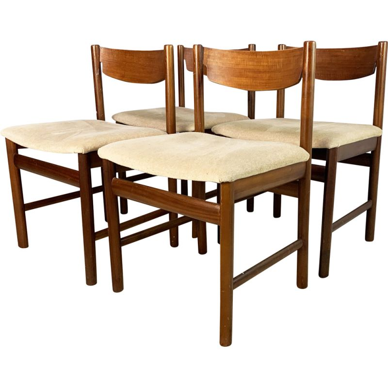 Set of 4 vintage dining chairs by White and Newton 1960s