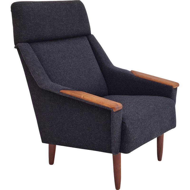 Vintage high-backed armchair, Danish 1970s