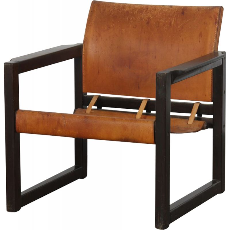 Vintage leather armchair by Karin Mobring for Ikea, Swedish 1970s