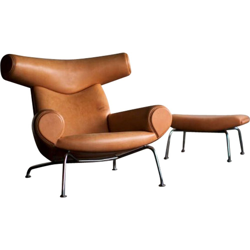 Vintage Hans Wegner OX Chair 1960s