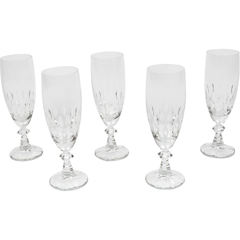 Set of 5 vintage Iris champagne glasses for Villeroy & Boch, Germany 1980s
