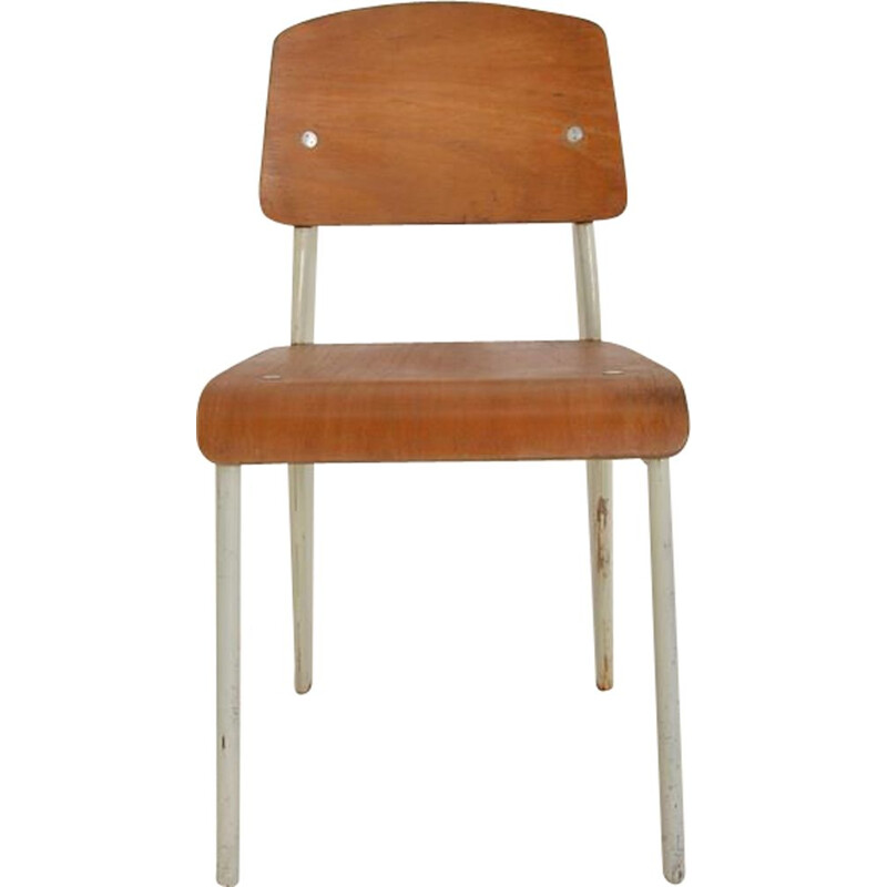 "Vintage chair model metropole 305 ""Standard"" by Jean Prouvé 1950s"