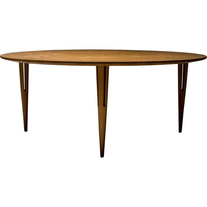 Vintage Bruno Mathsson Occasional Table in Burl for Mathsson International, Sweden 1960s