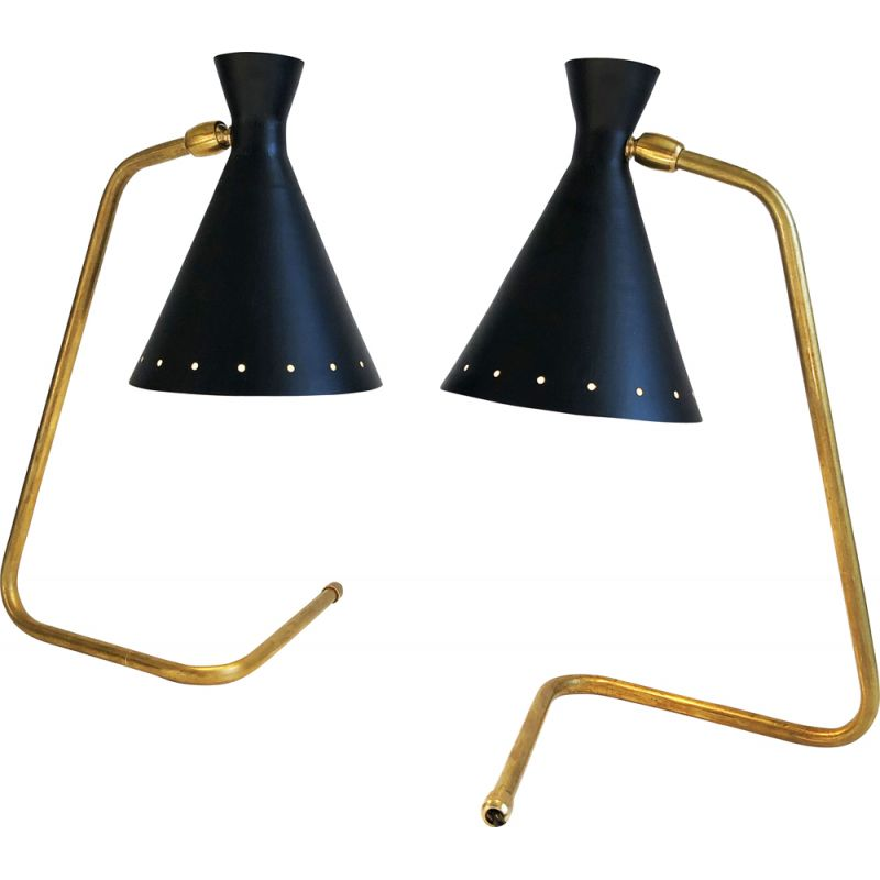 """Pair of vintage lamps """"cocottes"""", Italian 1950s"""