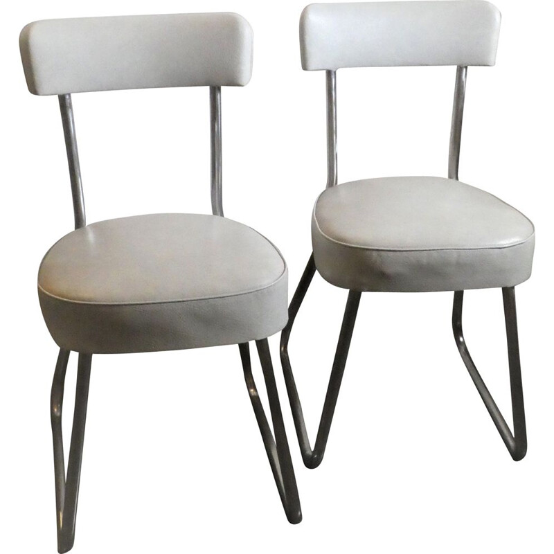 Pair of vintage chairs Strafor 1950s
