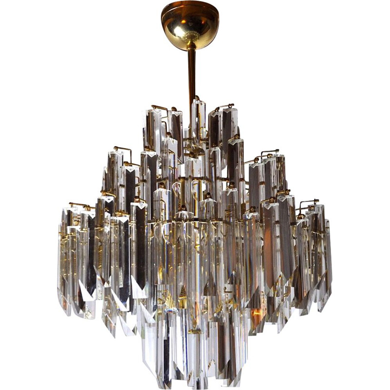 Vintage chandelier Paolo Venini 4 levels, Italy 1970s